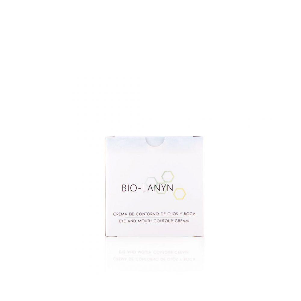 Cremas para pieles sensibles - Productos de cosmética natural - Tienda de cosmética natural - Crema de contorno de ojos y boca - Cosmética Natural Lanyn - Envase
